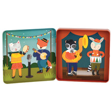 Petit Collage Animal Band Magnetic Play Set in Easy-Close Tin