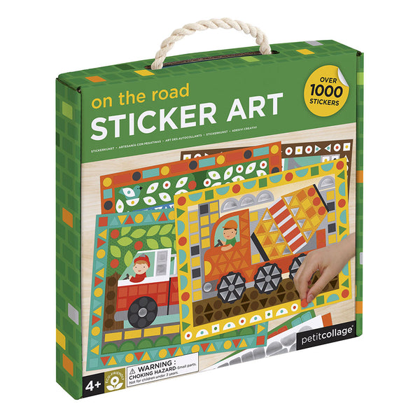 Petit Collage Vehicles Sticker Mosaic Set