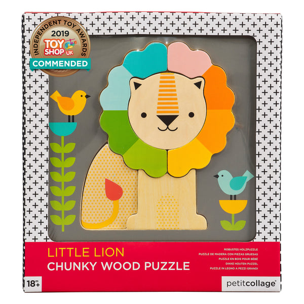 Petit Collage Lion Chunky Wood Puzzle