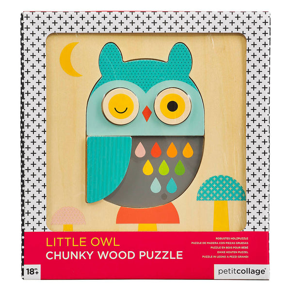Petit Collage Owl Chunky Wood Puzzle