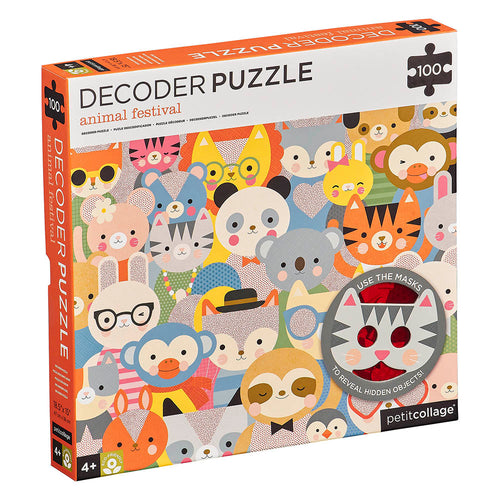 Petit Collage Animal Festival Decoder Puzzle