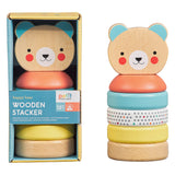 Petit Collage Happy Bear Wooden Stacker Toy