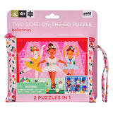 Petit Collage Double Sided On-The-Go Ballerina Puzzle