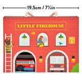 Petit Collage Wind Up & Go Fire Station Play Set