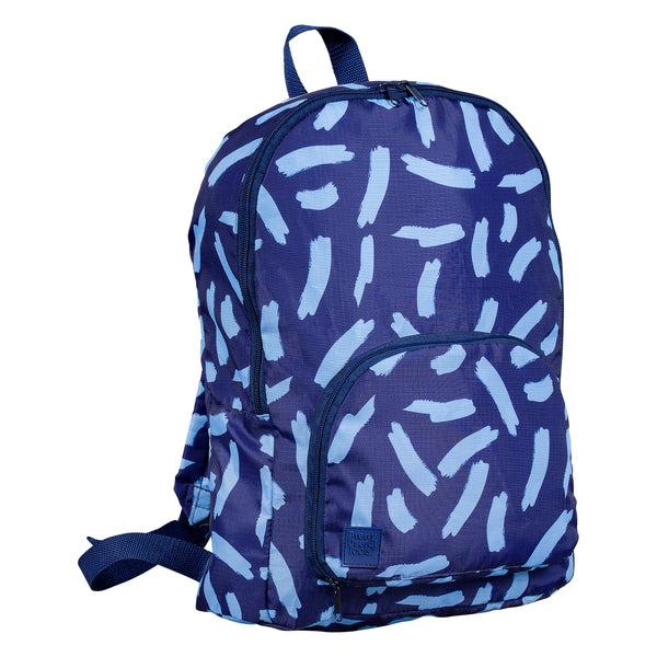 Midnight Blue Foldaway Travel Backpack from Pretty Useful Tools