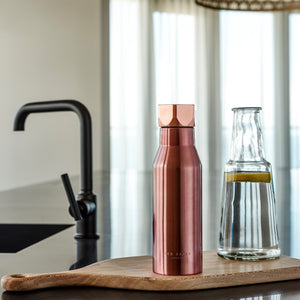 Ted Baker Stainless Steel Water Bottle, Rose Gold