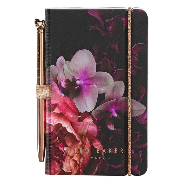 Ted Baker Mini Notebook & Pen, Splendour Design