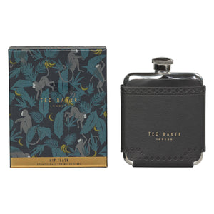 Ted Baker Hip Flask, Black Brogue Monkian Design
