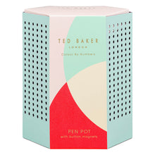 Ted Baker Colour By Numbers Mint Pen Pot with Magnets