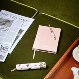 Ted Baker Pink A5 Brogue Notebook