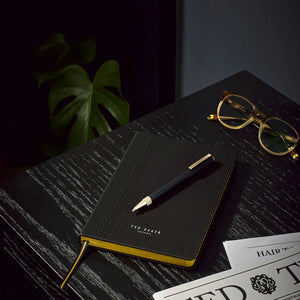 Ted Baker Black Brogue A5 Notebook