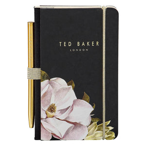 Ted Baker Black Opal Mini Notebook and Pen