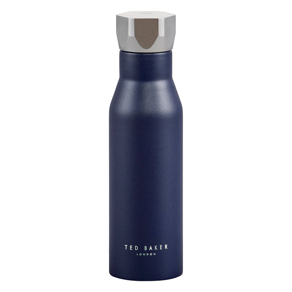 Ted Baker Navy Hexagonal Lid Water Bottle