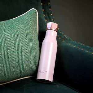 Ted Baker Pink Hexagonal Lid Water Bottle