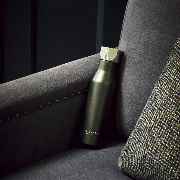 Ted Baker Black Hexagonal Lid Water Bottle