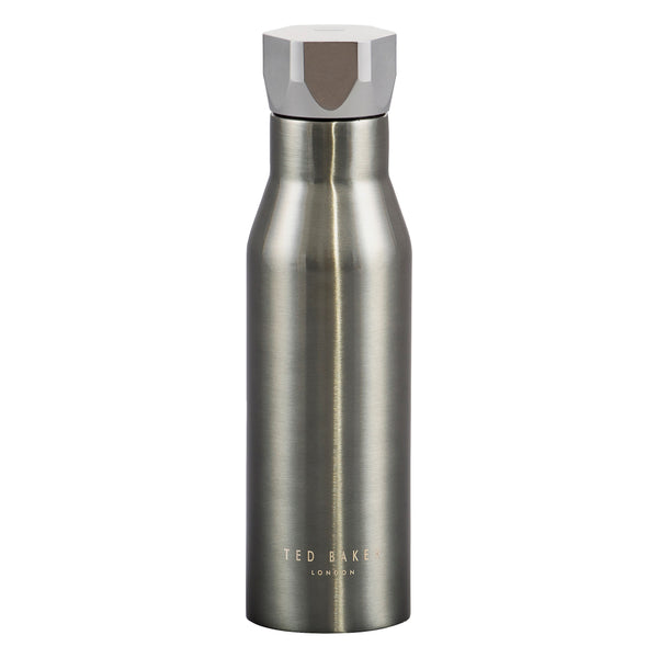 Ted Baker Gunmetal Hexagonal Lid Water Bottle