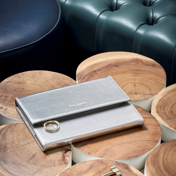 Ted Baker Silver Notebook with Pencil Case