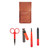 Ted Baker Tan Brogue Manicure Set