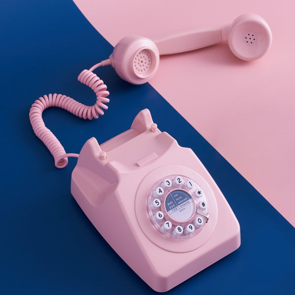Vintage-inspired retro Telephone in Dusky Pink from Wild and Wolf