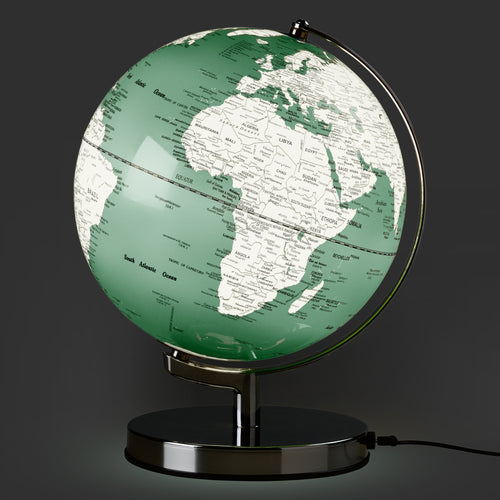 Illuminated 10 Inch Swedish Green Globe Light from Wild & Wolf