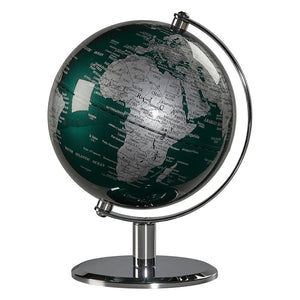 Wild & Wolf 6 Inch Fir Green & Chrome Globe