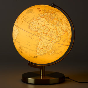 Illuminated 10 Inch Vintage Globe Light from Wild & Wolf