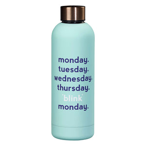 "Yes Studio 500ml ""Monday Blink"" Insulated Water Bottle in Light Blue"