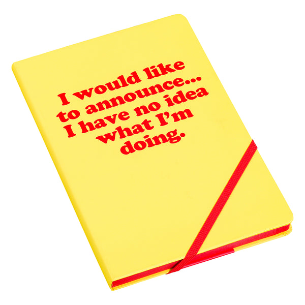 Yes Studio 'I Would Like To Announce' A5 Notebook