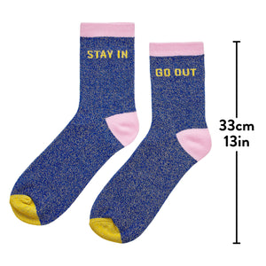 Yes Studio Stay In Go Out Socks