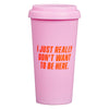 Yes Studio 'Sorry I'm Late' Travel Mug