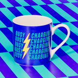Yes Studio 'Busy Charging' Ceramic Mug