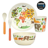 Petit Collage Our World 5 Piece Bamboo Mealtime Set