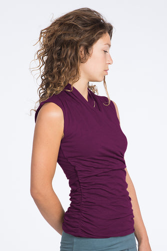 Urban Goddess Good Karma Yoga Top – Deep Cherry