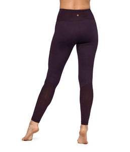 Manduka High Line Diamond Mesh Leggings - Deep Plum