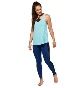 Manduka Breeze Cross Over Yoga Top - made from Recycled Polyester