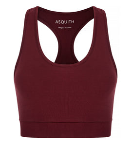Asquith Claret Bamboo Sports Bra Top