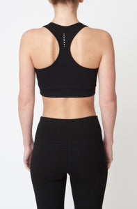 Asquith Black Bamboo Sports Bra Top