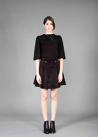 pleated japan velveteen skirt