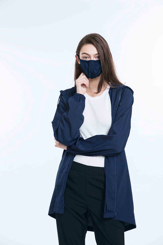 permanent 99% anti-bacteria unisex overcoat set (includes one face mask and one eye mask)