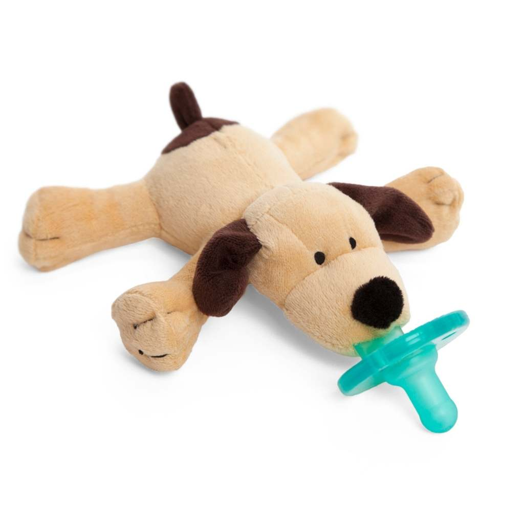 Brown Puppy WubbaNub Pacifier - Lindsey Paige
