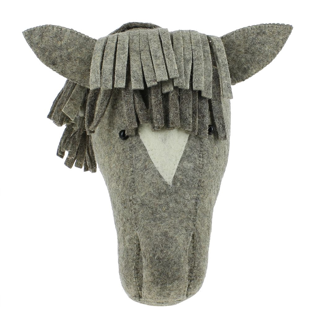 Fiona Walker Grey Horse Head - Lindsey Paige