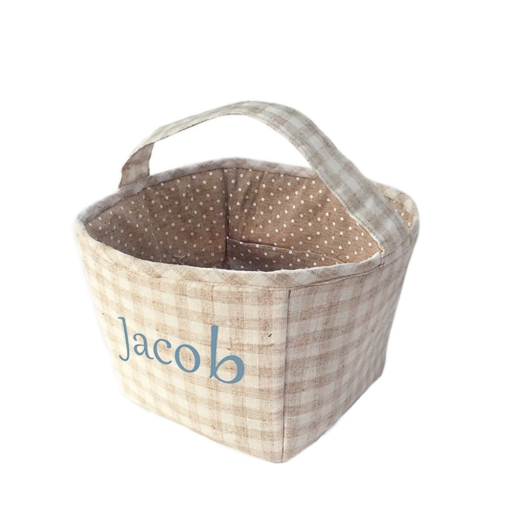 Tan Fabric Basket - Lindsey Paige