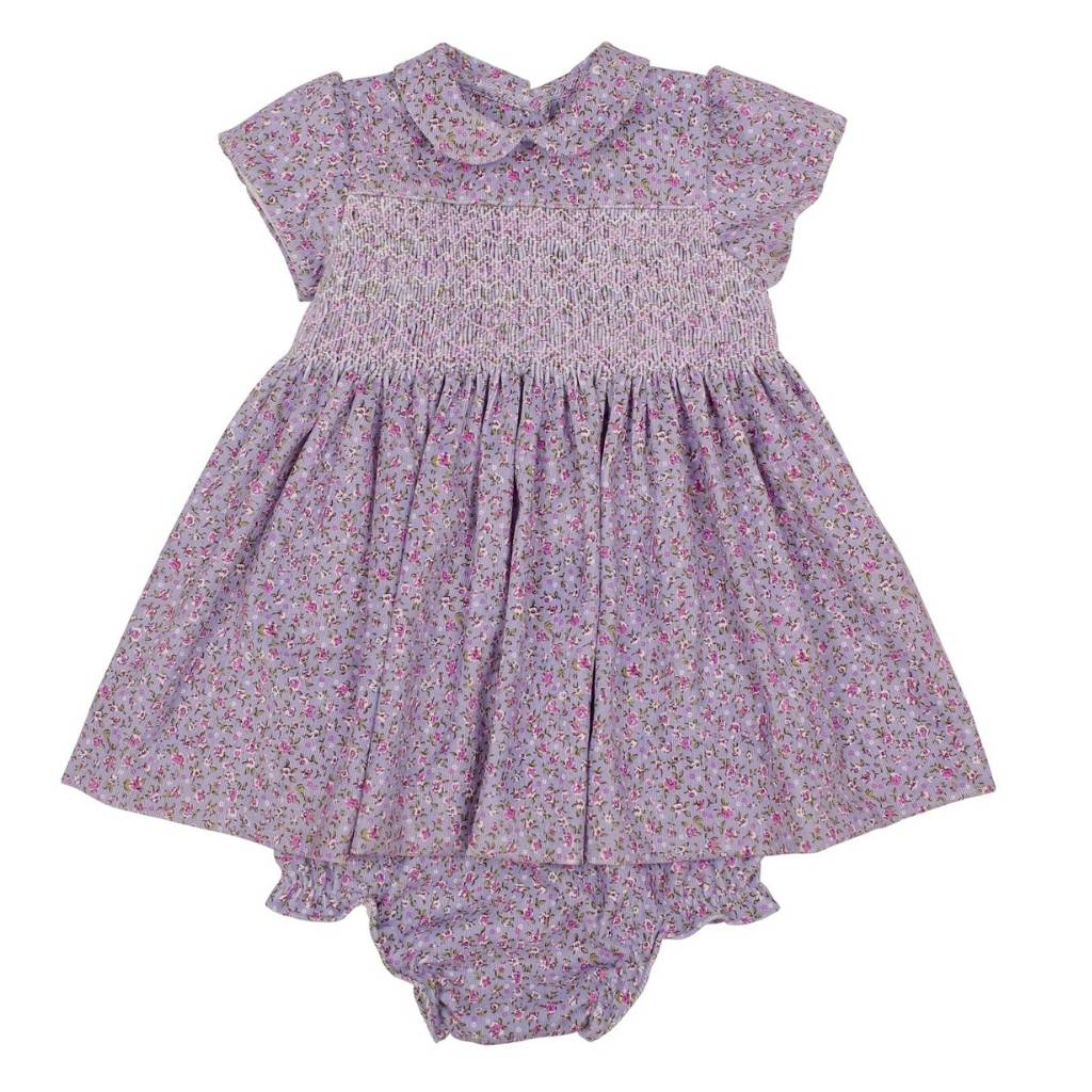 Zoey Hand-Smocked Lilac Dress - Lindsey Paige