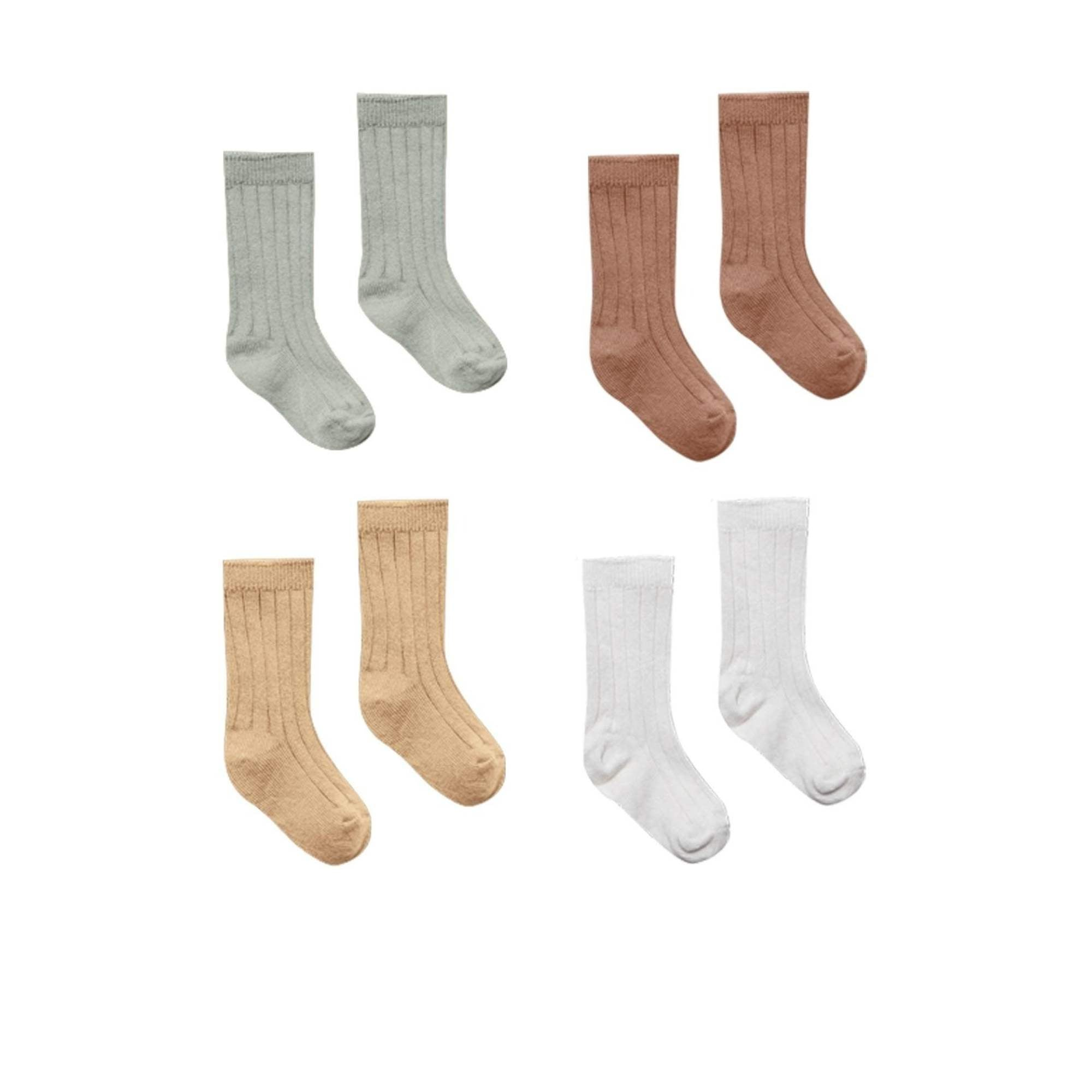 Organic Ribbed Knit Socks - 4 Pack - Lindsey Paige