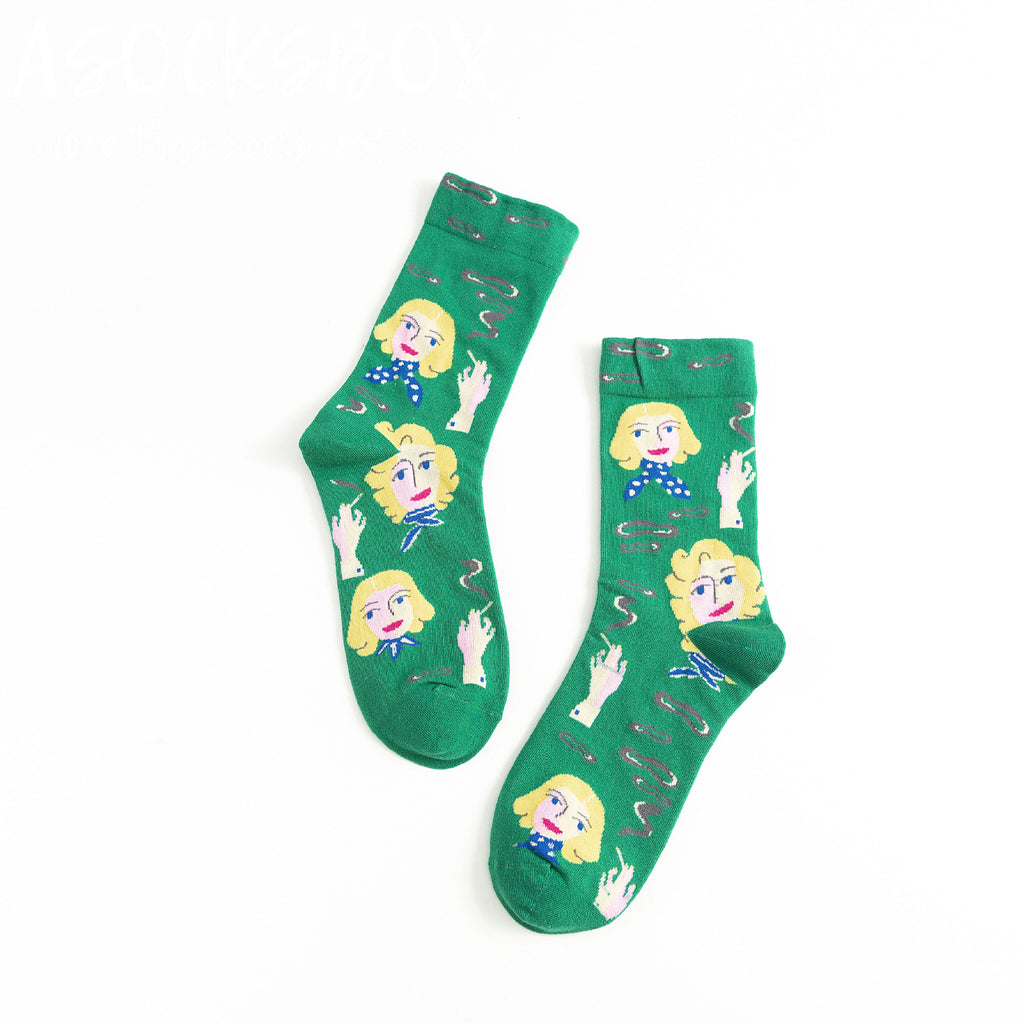 Day Dreaming Girl Socks