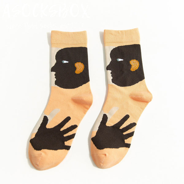 Who's Hands On My Face Socks