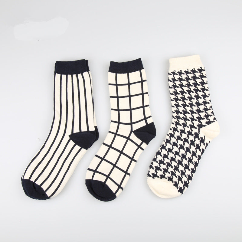 3 IN 1 England Style Pattern Design Socks Box - socksADRION's