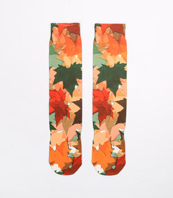 Customzied Sublimation Leaf Fallen Art Style Socks - socksADRION's