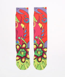 Customzied Sublimation Butterfly Style Socks - socksADRION's
