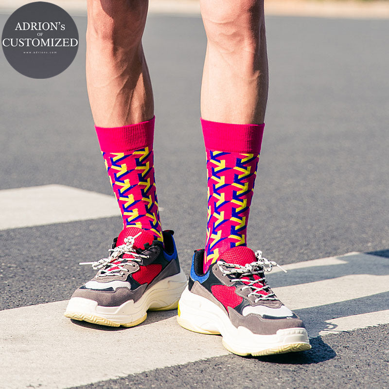 <3 Pairs Packed>Instagram Boys Skateboard Long Tube Socks - socksADRION's